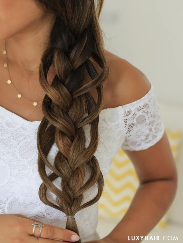 how to braid feather loop hairstyle luxy hair