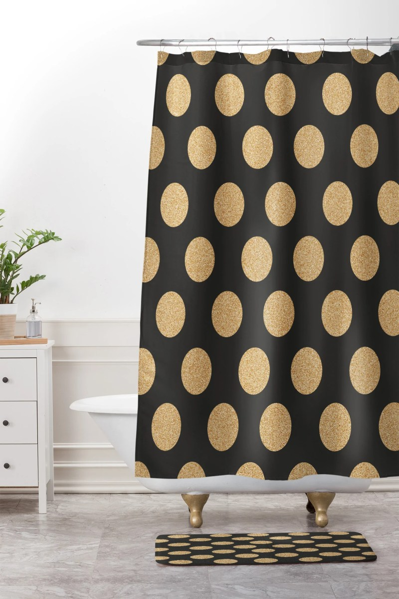 Large Of Gold Shower Curtain