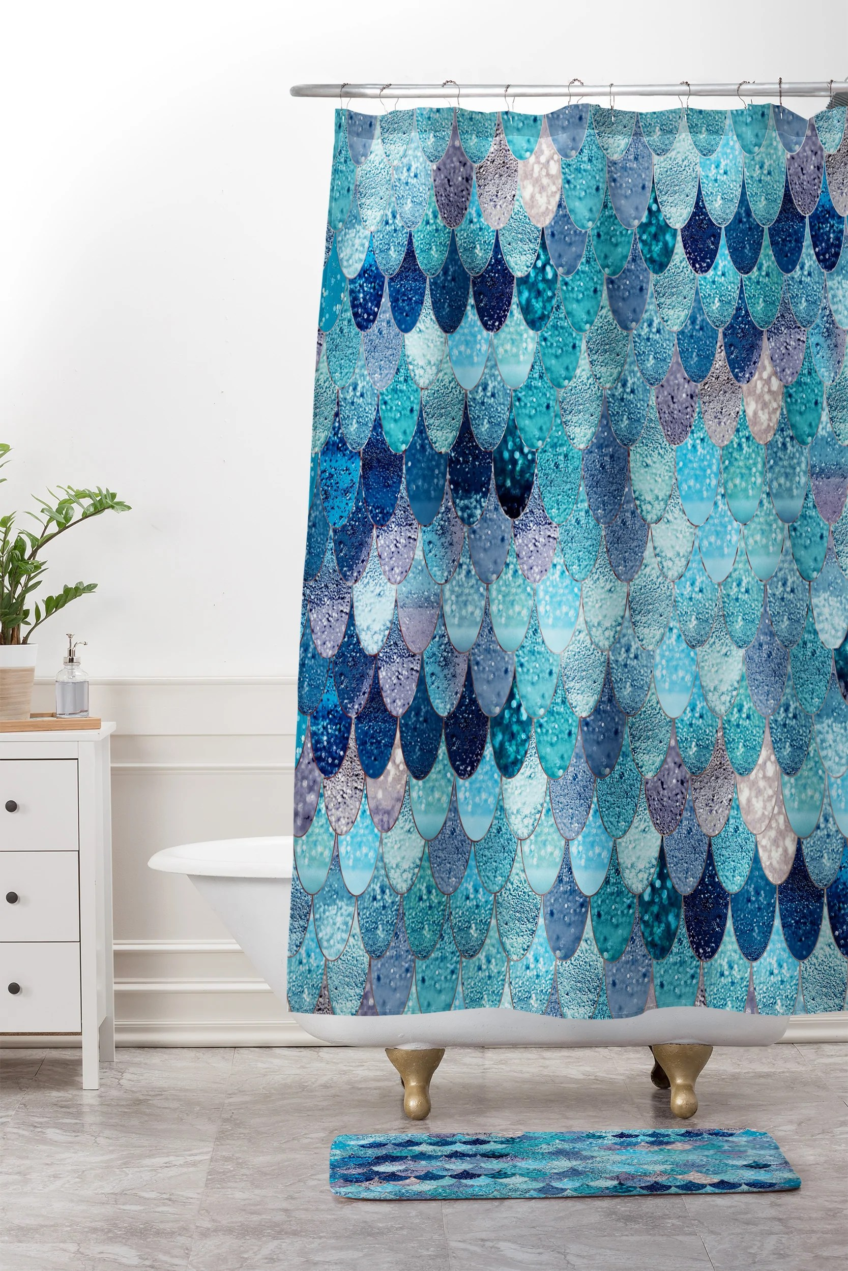 Horrible Shower Curtain Mat V1 6fc3b4a9 E978 4204 939b 44c743070800 Ombre Shower Curtain Shower Curtain Canada Monika Strigel Summer Mermaid Blue houzz 01 Teal Shower Curtain