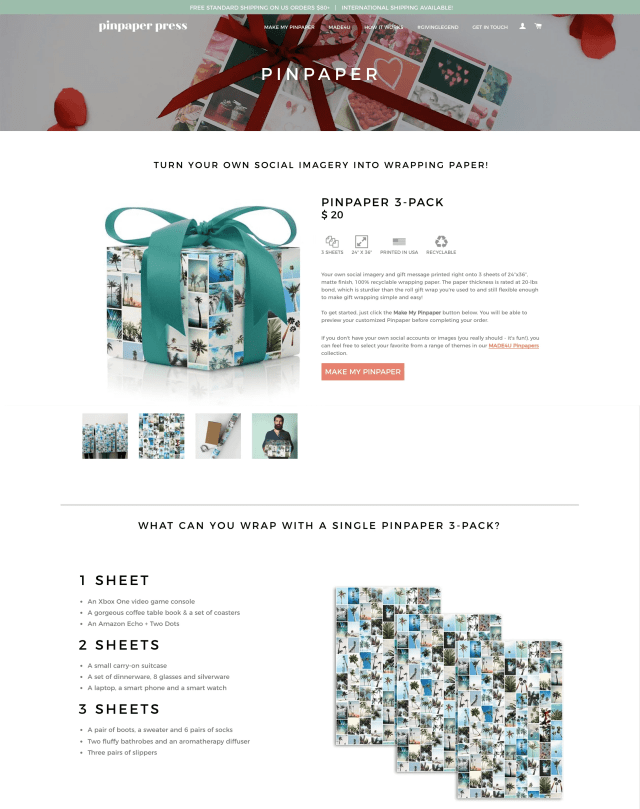 A product page that does a great job of bringing the brand into it.