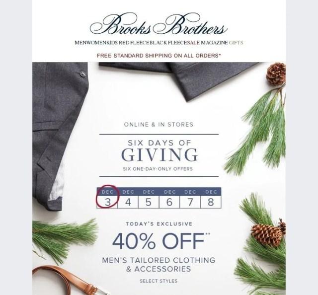 BFCM Brooks Brothers