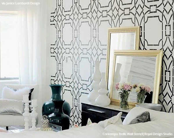 Modern Wall Stencils & DIY Floor Stencils for Painting | Royal Design Studio Stencils