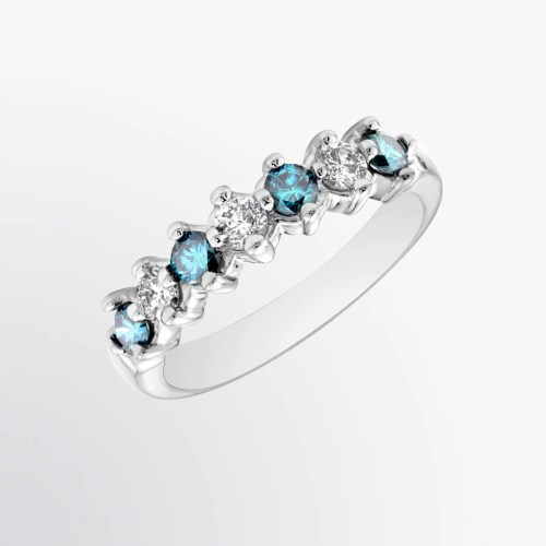 Medium Of Blue Diamond Ring