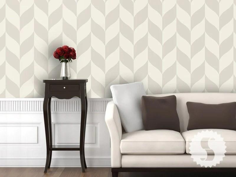 Wallpaper temporary removable wallpaper classic chevron tan