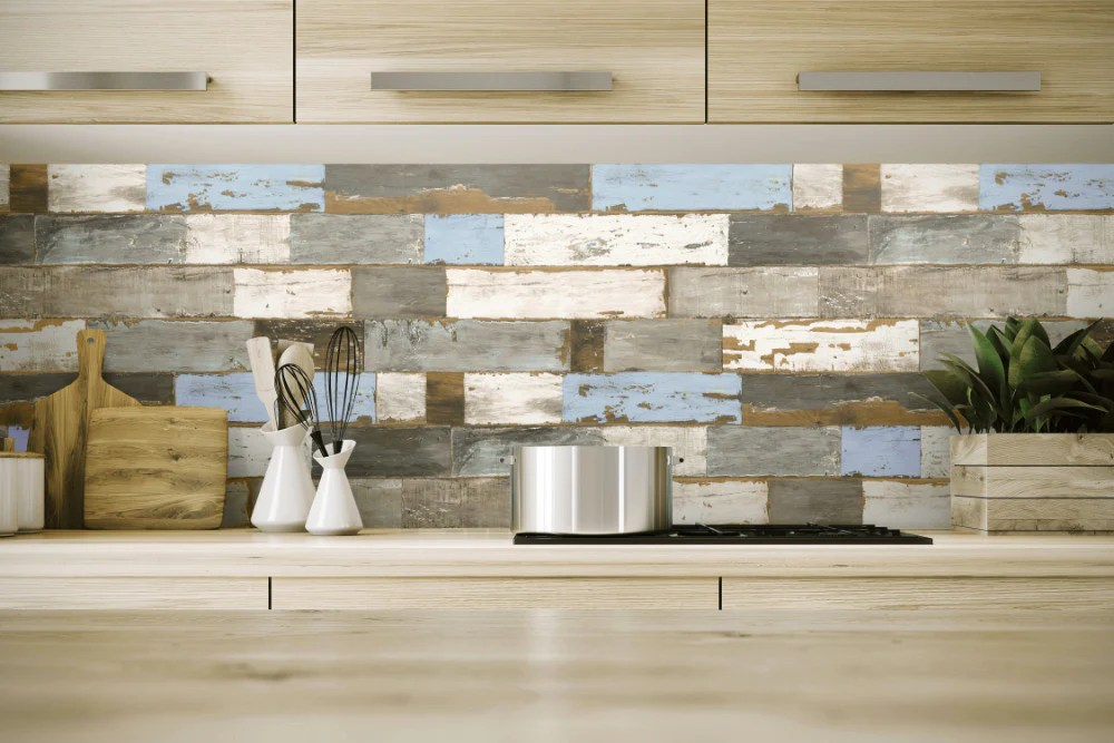 Colorful Shiplap Peel-and-Stick Wallpaper by NextWall – BURKE DECOR
