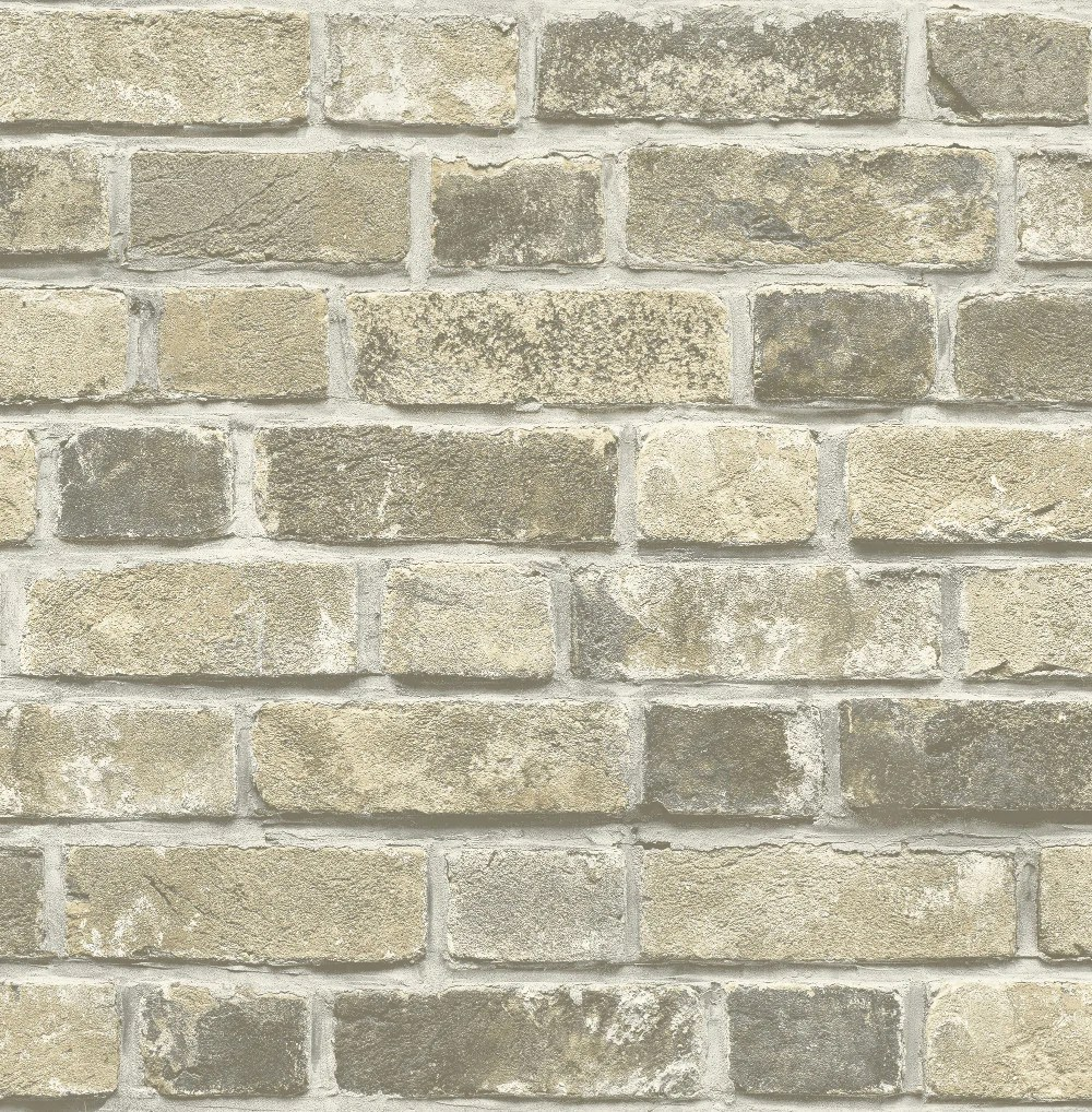 Distressed Brick Peel-and-Stick Wallpaper in Neutral by NextWall – BURKE DECOR