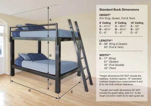 Medium Of Queen Over Queen Bunk Bed