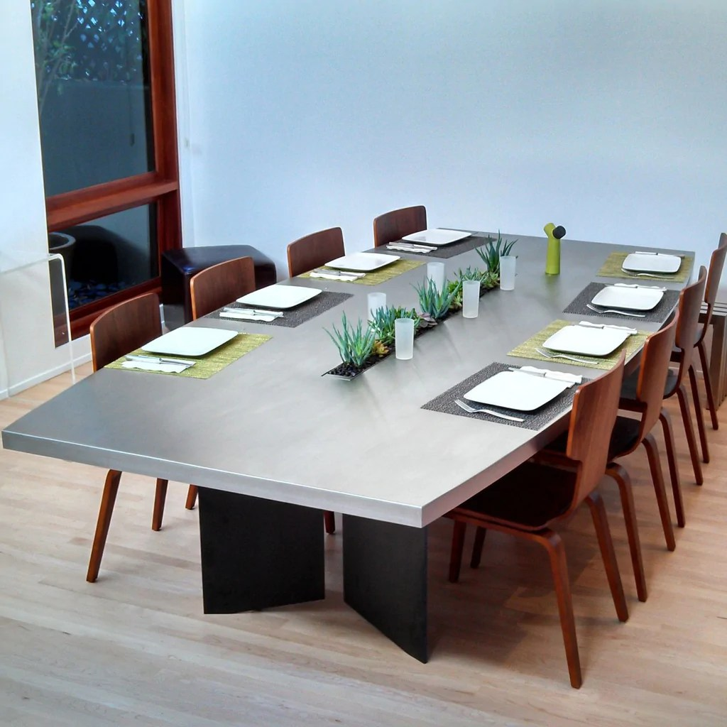 custom stainless steel dining table 1 stainless steel kitchen table Custom Stainless Steel Dining Table