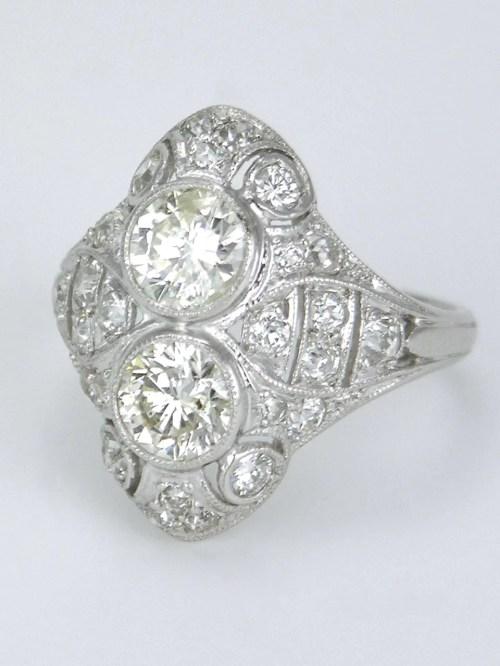 Medium Of Two Stone Ring