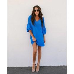 Small Crop Of Cobalt Blue Dress