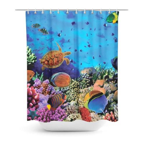 Medium Of Coral Shower Curtain