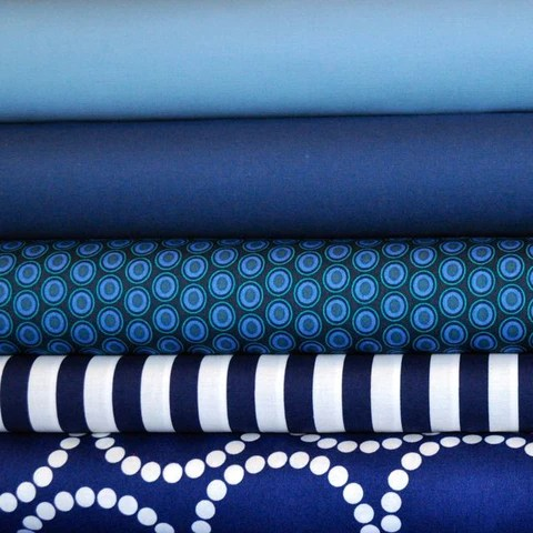 Darker Blues Bundle available at cutsofcotton.com available in fat quarter, half yard and full yard cuts