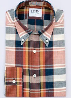 Indigo plaid Madras shirt