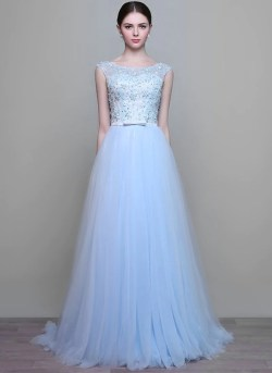 Small Of Light Blue Wedding Dress