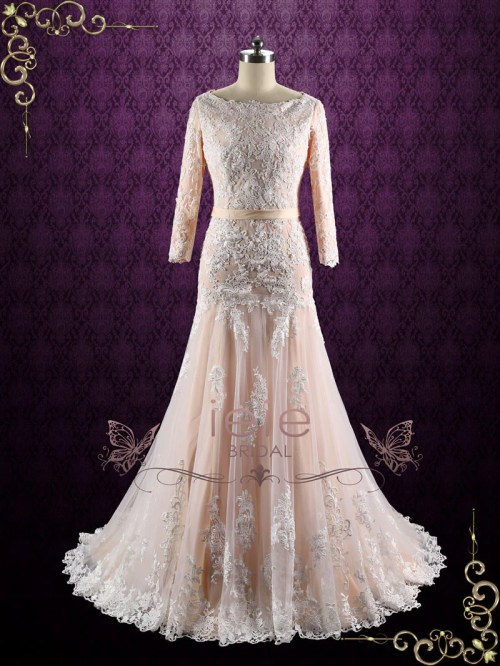 Medium Of Drop Waist Wedding Dress