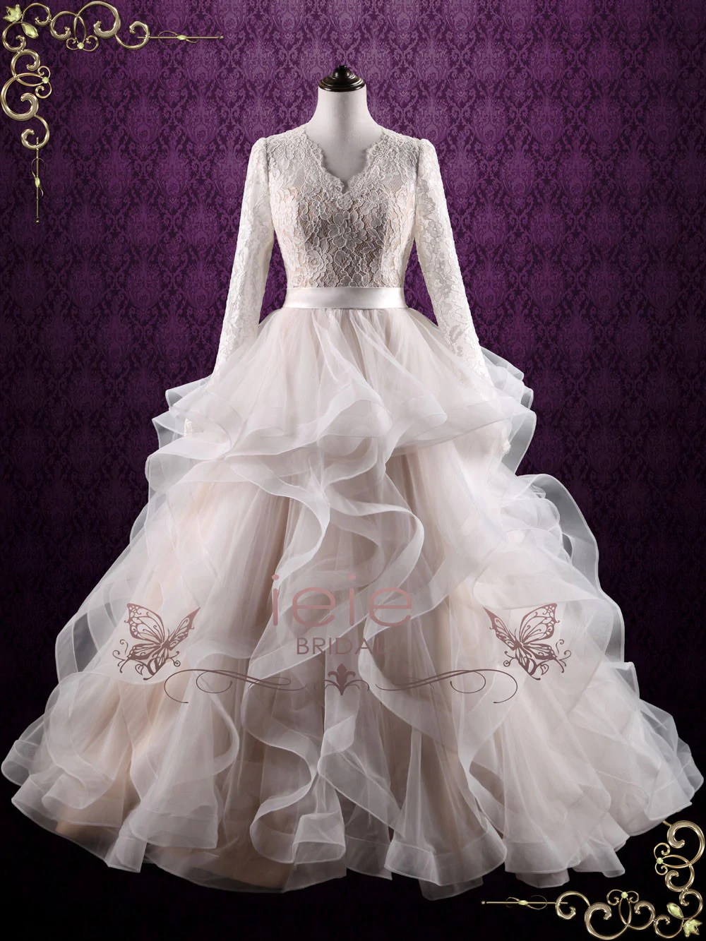lets talk about modesty modest wedding dress peonycatalog 57 Beautiful modest wedding gown Available