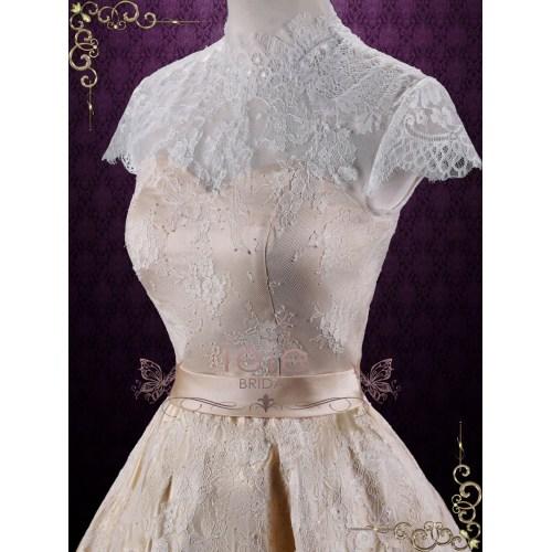 Medium Crop Of Short Lace Wedding Dress