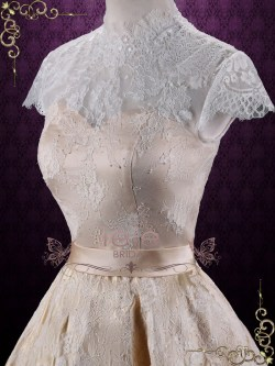 Small Of Short Lace Wedding Dress