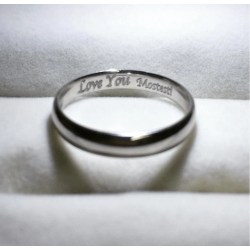 Small Crop Of Name Engraved Ring