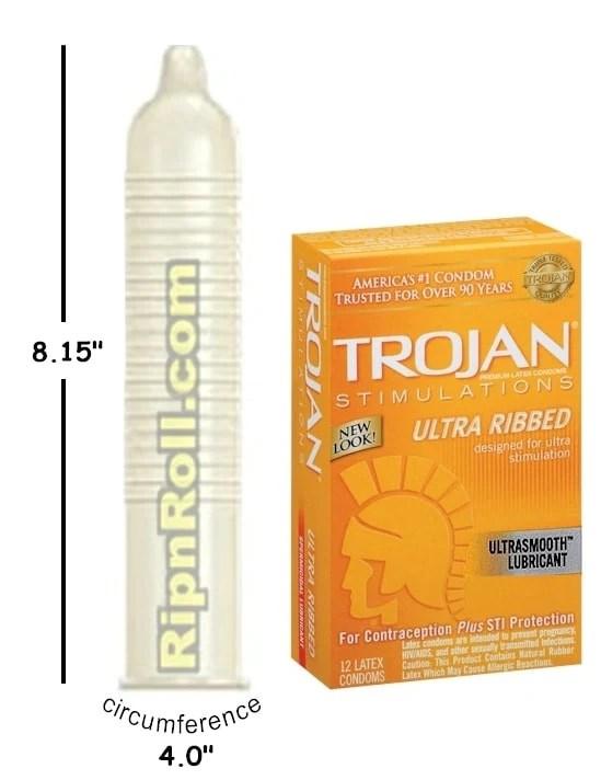 Trojan Ribbed Condoms - RipnRoll.com