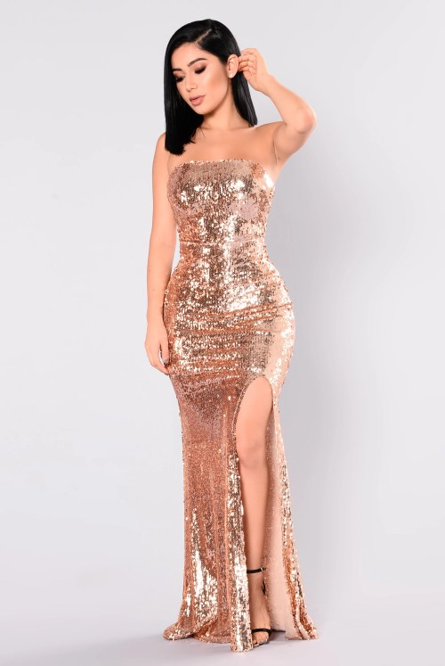 Medium Of Rose Gold Dress