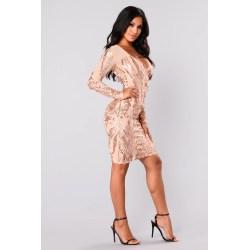 Splendent Fashion Nova 09 06 17 574 Rose G Sequin Dress Long Rose G Sequin Dress Knee Length