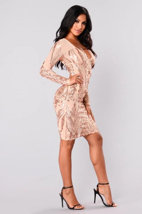 Medium Of Rose Gold Sequin Dress