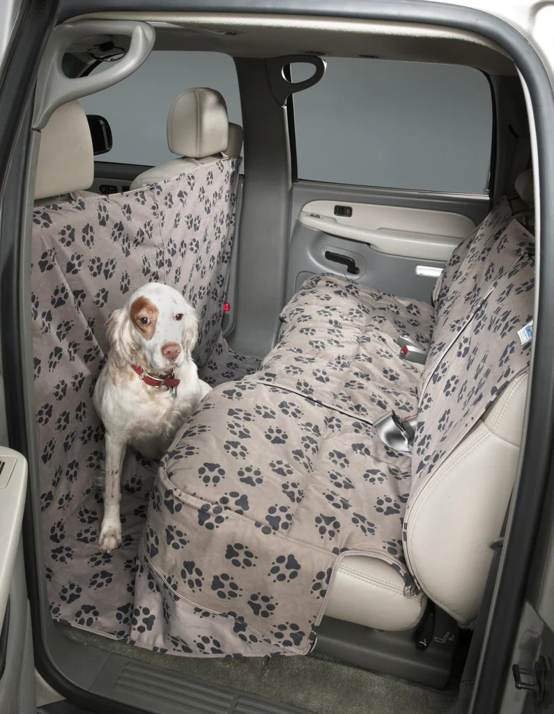 Fancy Custom Paw Print Seat Covers By Canine Covers Dog Seat Covers Dogs Hammock Dogs Walmart Seat Covers Trucks Or Suvs Cross Peak Products Car Seat Covers bark post Seat Covers For Dogs