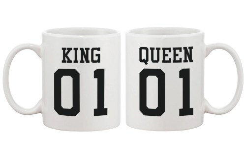 Fashionable Cup Design Ideas King King Queen Couple Matching Ceramic Cups Gift