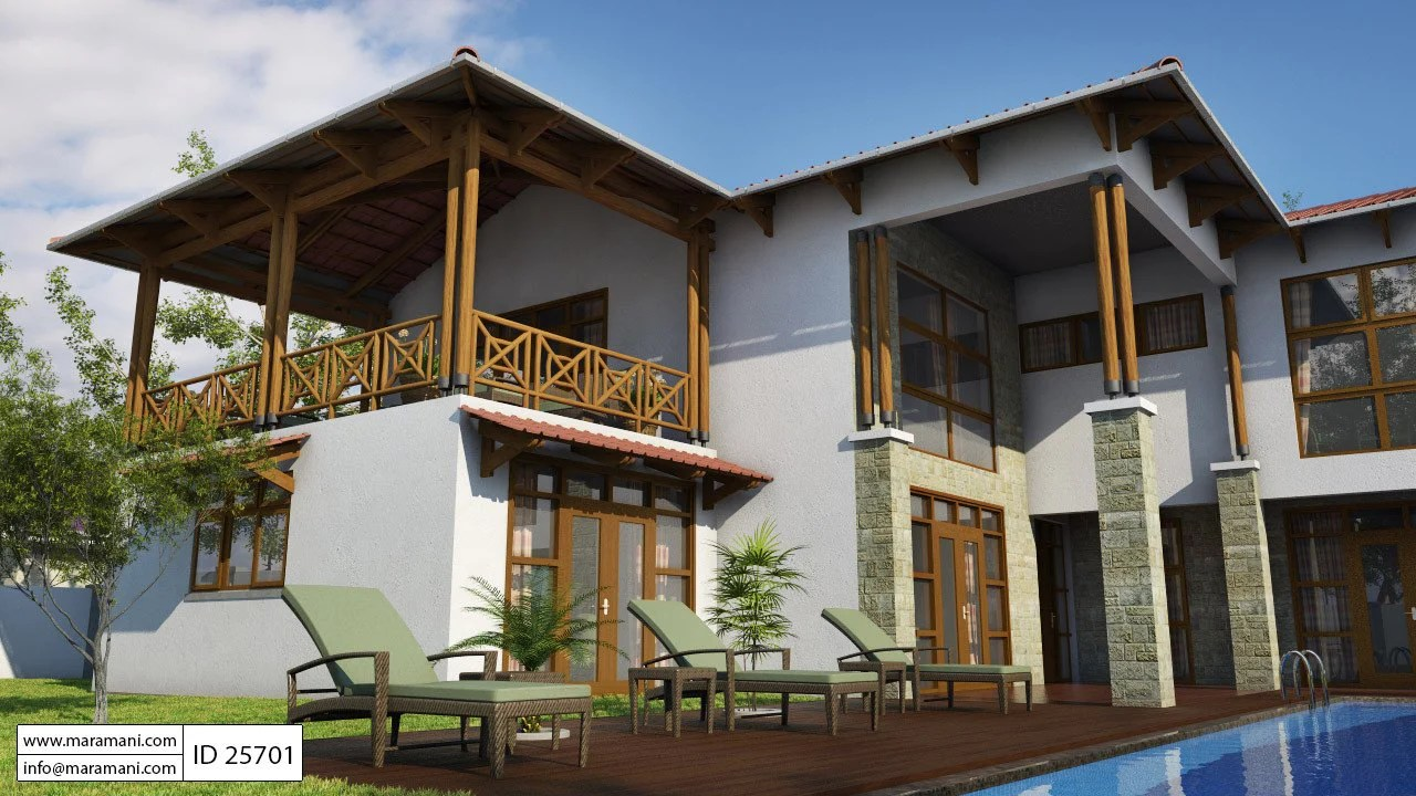 Bali Style house with 5 Bedrooms - ID 25701 - House Plans ...