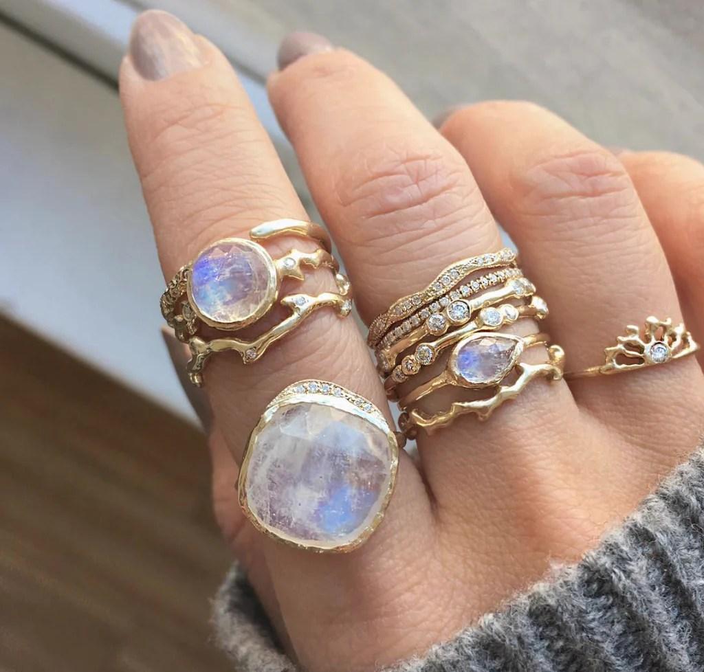 moonstone cove ring moonstone wedding rings Moonstone Cove Ring