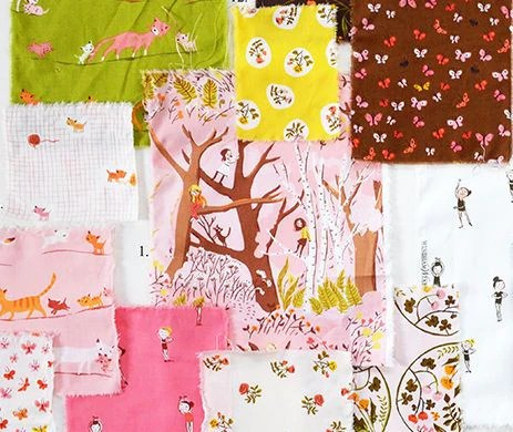 Tiger Lily by Heather Ross for Windham Fabrics Half yard Bundle