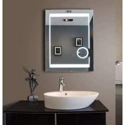 Small Crop Of Lighted Bathroom Mirror