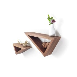 Small Crop Of Triangular Floating Shelves