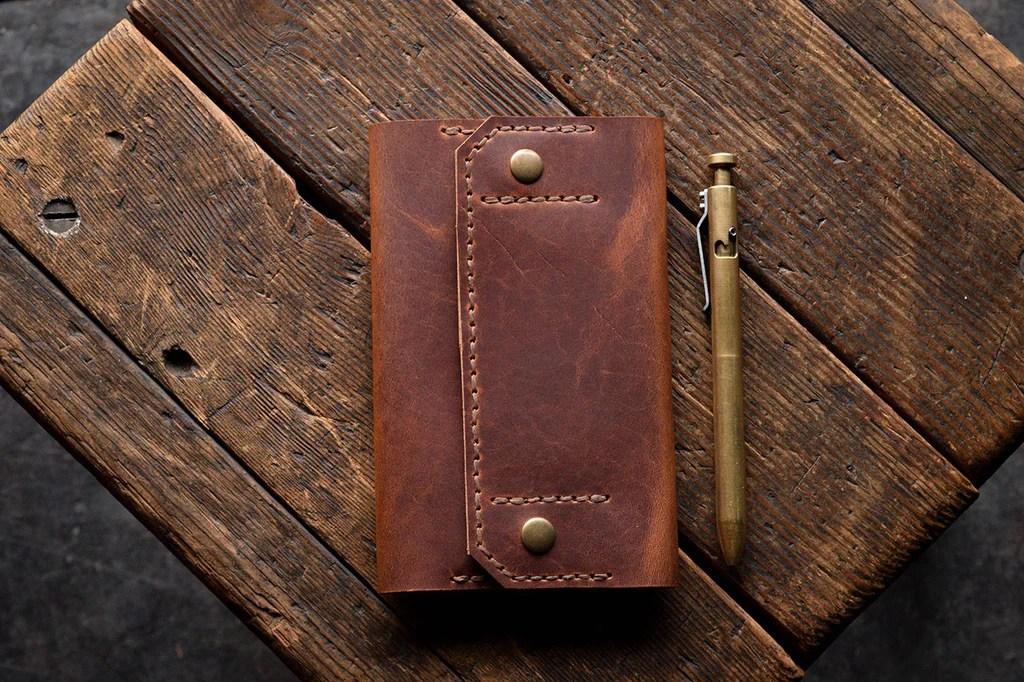 Checkbook Wallet, Handmade Horween Leather Business Checks ...