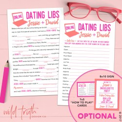 Small Of Bridal Shower Mad Libs