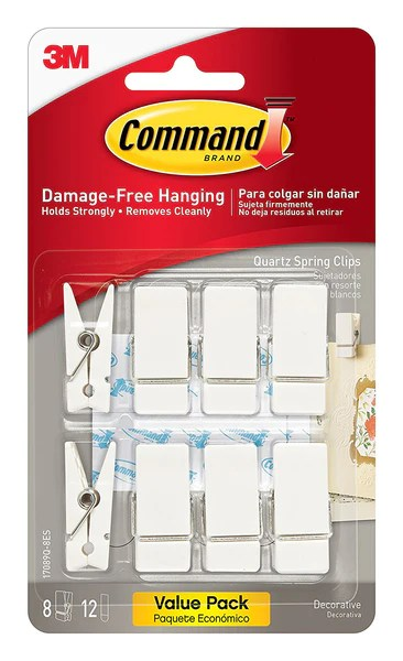 Command Spring Clips, Quartz