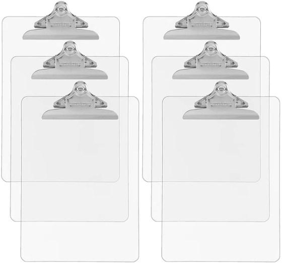 Trade Quest Plastic Clipboard Transparent Color Letter Size Standard Clip
