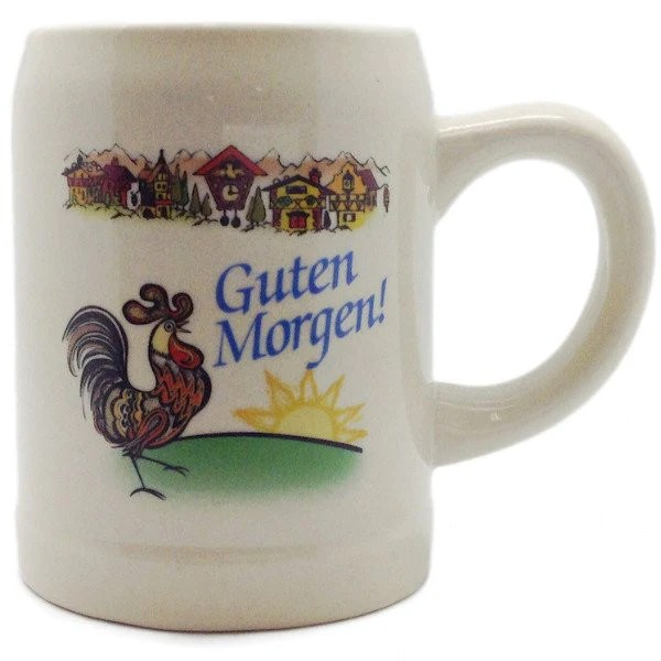 Guten Morgen  German Stoneware Coffee Mug  Guten Morgen  German Stoneware Coffee Mug