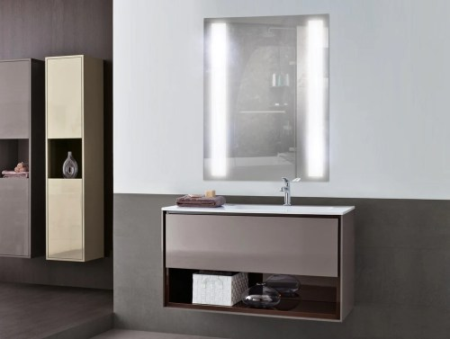 Medium Of Lighted Bathroom Mirror