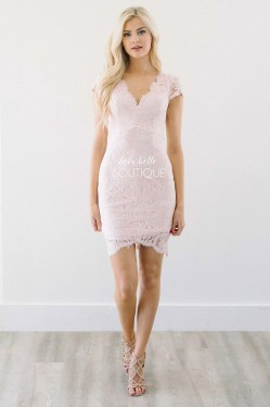Small Of Pink Lace Dress