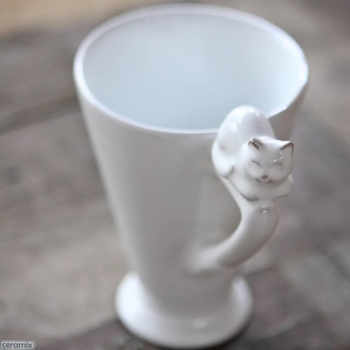 Medium Of Handmade Cat Mug