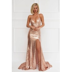 Small Crop Of Rose Gold Dress