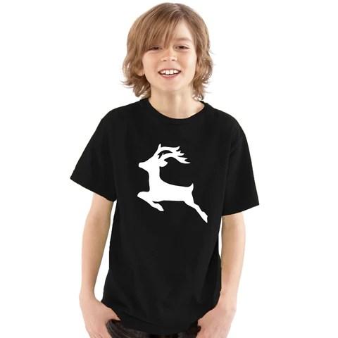 Boys Reindeer Silhouette T-Shirt