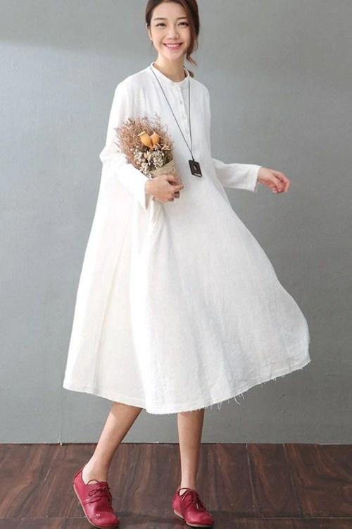 Medium Of White Long Dresses