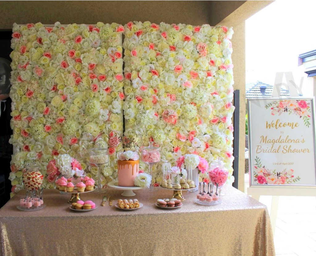 Picture Bridal Shower Backdrop Pink Flower Wall Wedding Flowers Portfolio Greenery Baby Shower Backdrop Banner Baby Shower Backdrop S baby shower Baby Shower Backdrop