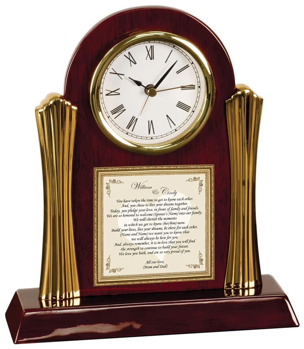 wedding son daughter gift clock wedding gift for groom Wedding Gift Bride Groom