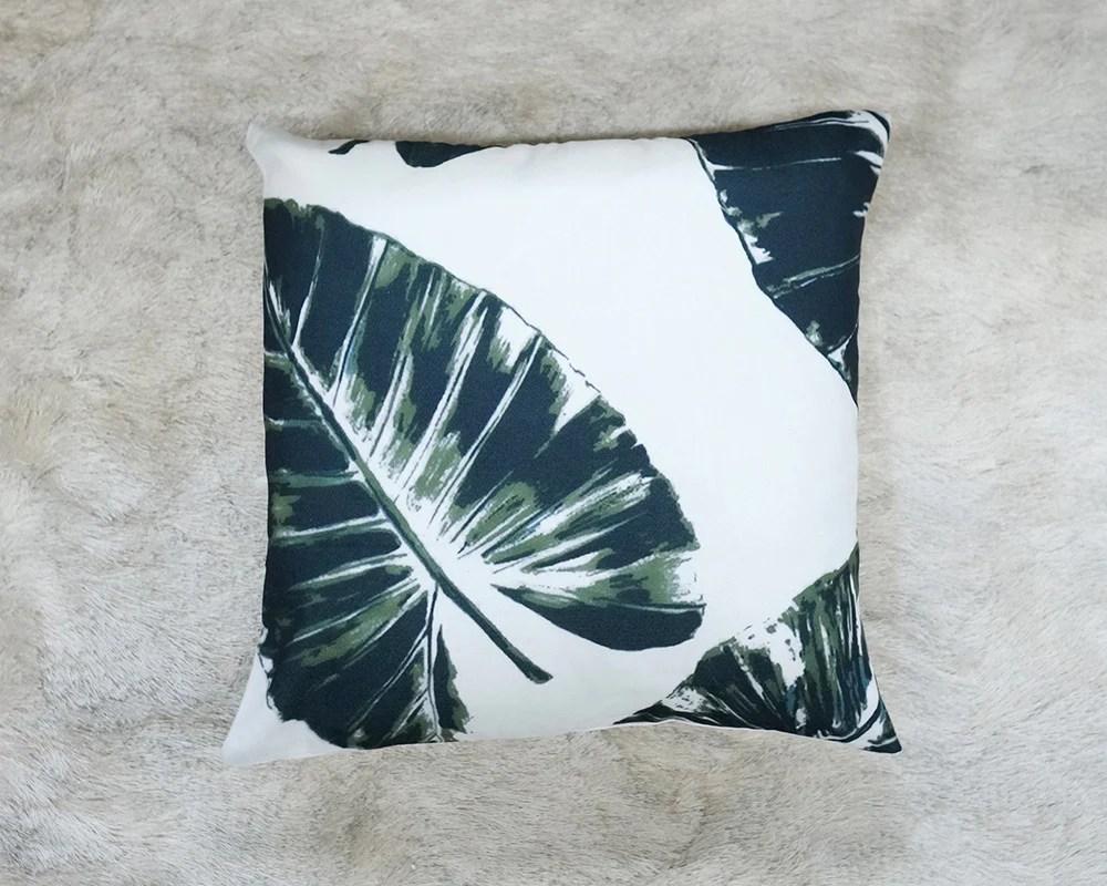 Frantic Palm Leaf Throw Pillows Palm Leaf Throw Pillows Vintage Meets Throw Pillows Canada Throw Pillows Cheap decor White Throw Pillows