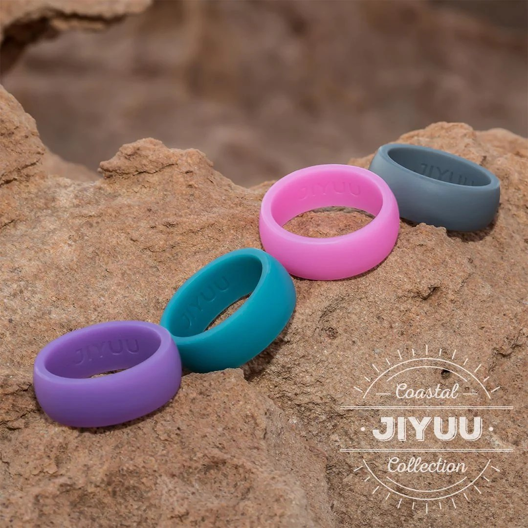 stormy weather mens ring rubber wedding rings JIYUU Mens Coastal Collection Silicone Rubber Wedding Rings