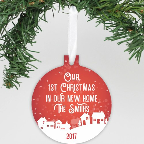 Cute Our New Personalized Aluminum Ornament Our New Our As Mr Personalized Aluminum Ornament Mrs Our Card